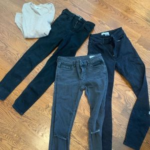 3 jeans and a cashmere sweater bundle